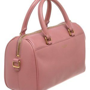 YSL Pink Calfskin Leather Classic Baby Duffle Bag